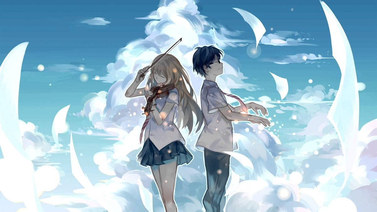 Shigatsu Wa Kimi no Uso- Anime dan manga musik terbaik