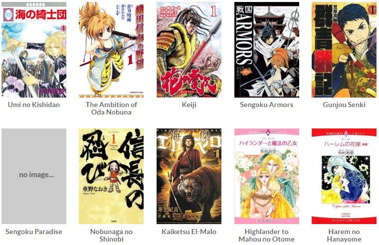 Daftar manga abad ke-16