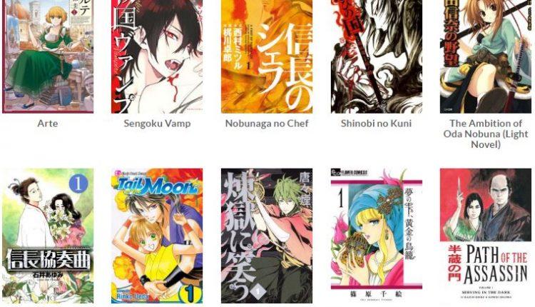 manga abad ke-16 terpopuler