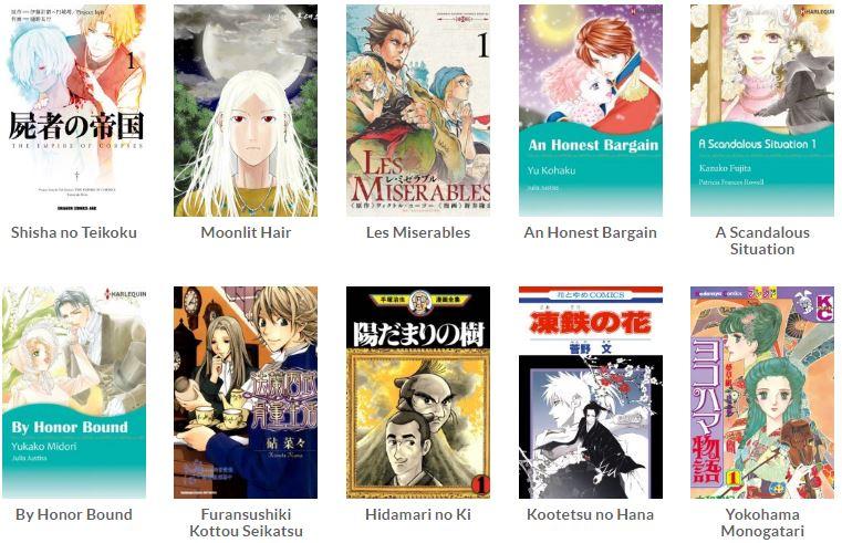 Daftar manga abad ke-19