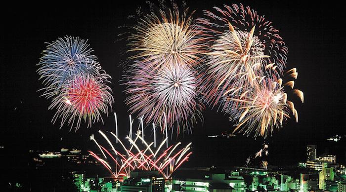 kota Fukuroi kembang api